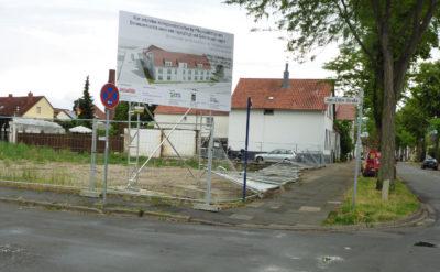 Baugelände für die Pflegeeinrichtung Heidensche Str.
