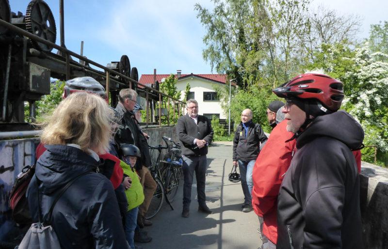 Radtour Erneuerbare Energien - Stauwehr Mühle Altrogge