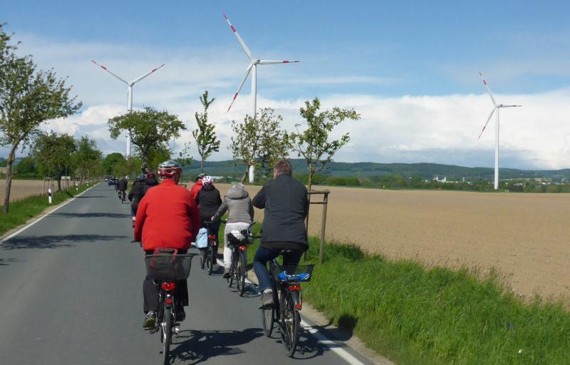 Radtour Erneuerbare Energien - Windräder Hardissen
