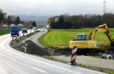 Bau des Bürgerradweges Helpuperstrasse