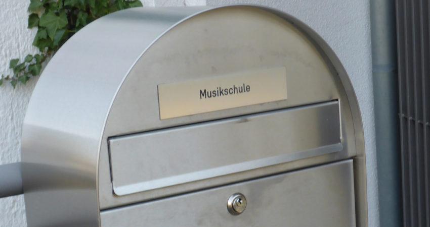 Briefkasten der Musikschule