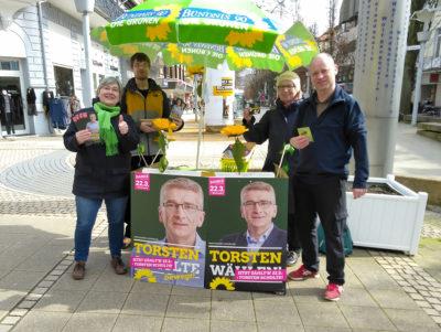 Detlef zum Wahlkampfeinsatz in Bad Pyrmont