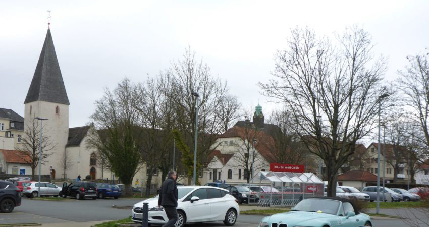 Parkplatz an der Marktkirche Lage