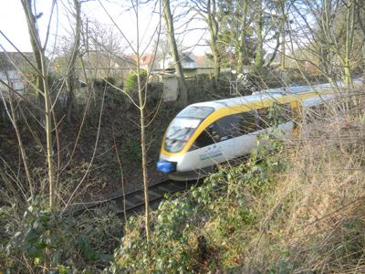 Eurobahn kurz vor der zu sanierenden Brücke