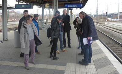 Bahnhof Herford: Hier ist das Leitsystem korrekt ausgeführt