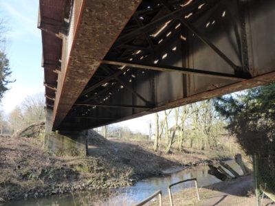 Alte Bahnbrücke über die Werre in Lage