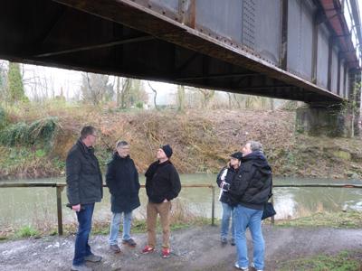 Brücke über die Werre in historischer Stahlnietenbauweise
