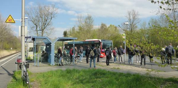 Bahnhof Ehlenbruch - Umsteigen im Schienenersatzverkehr
