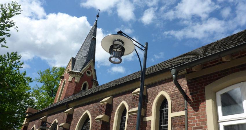 Modell der neuen LED-Laternen zu sehen am Bürgerhaus
