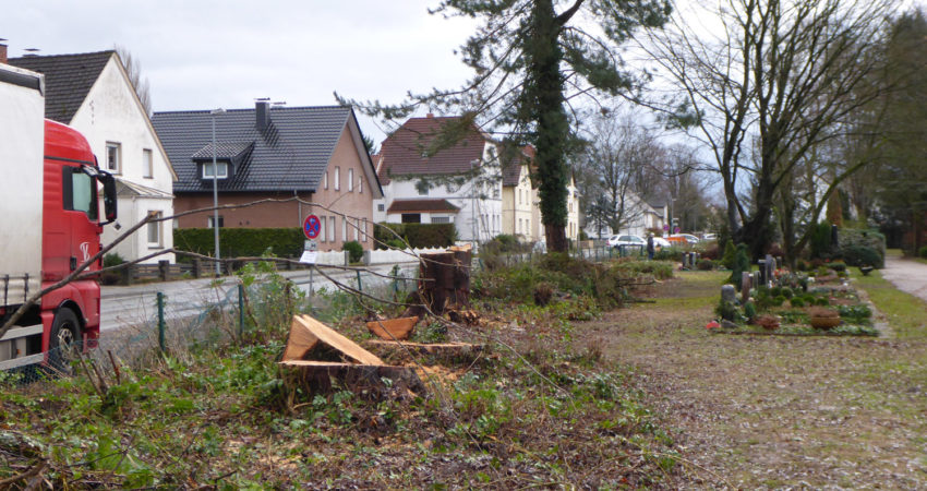 Baustellenvorbereitung an der Pottenhauser Straße