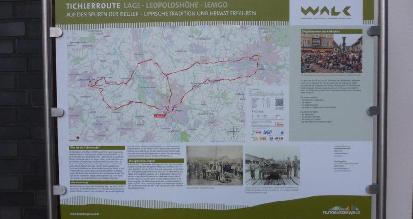Karte zur Tichlerroute - Hier auf dem Marktplatz Lage