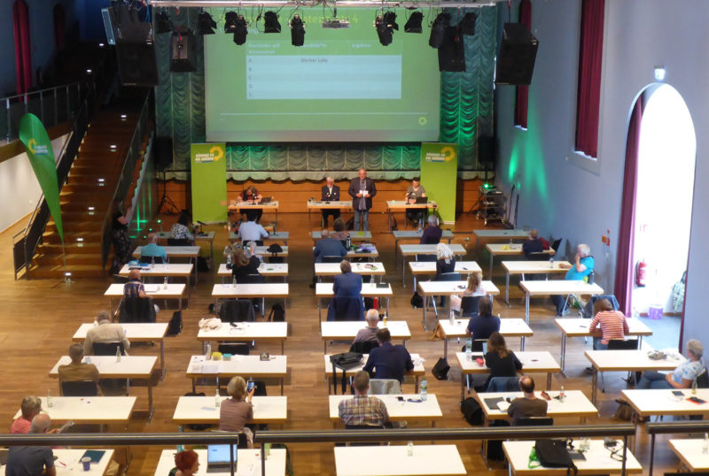 Stadthalle Detmold, Aufstellung der grünen Liste zum Kreistag