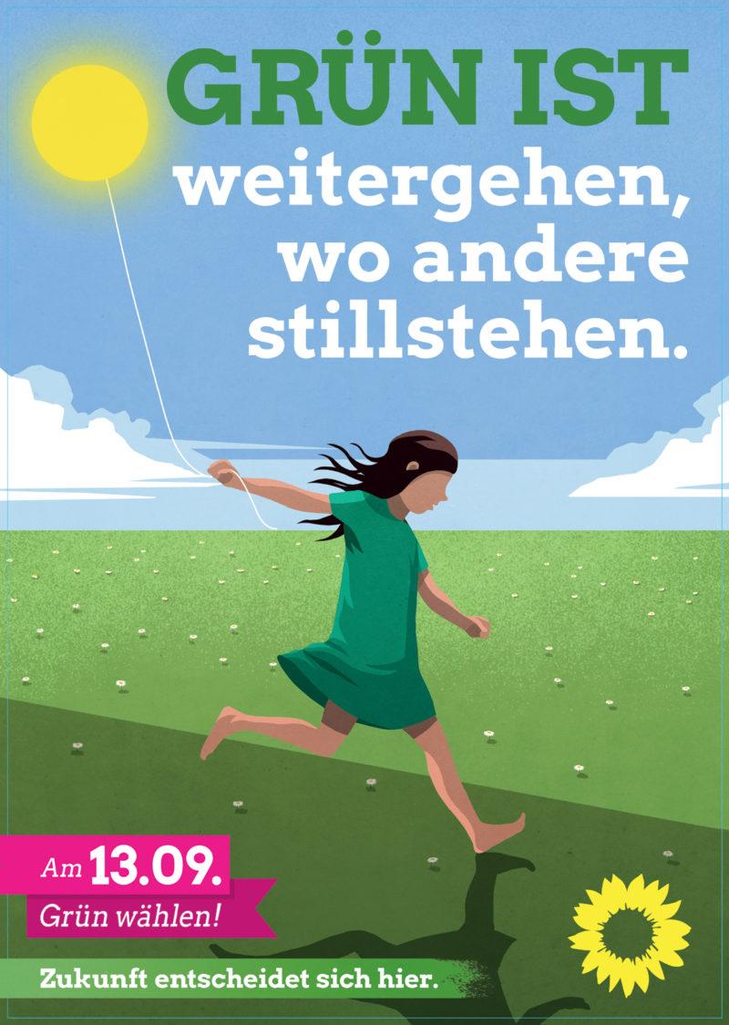 Titelblatt der Grünen Wahlbroschüre