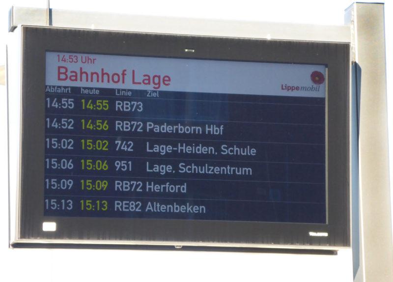 Echtzeit-Fahrgast-Informationssystem am Busbahnhof Lage