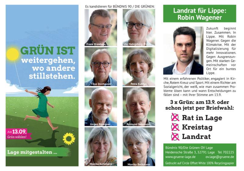 Flyer zur Kommunalwahl 13.9.20 Ausssenseite