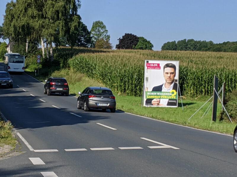 Grossplakat mit Robin Wagener - Landratskandidat