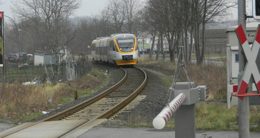 Eurobahnfahrzeug auf der Strecke von Lage nach Lemgo