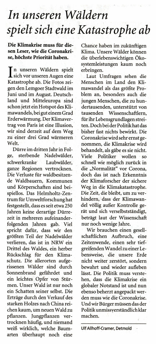 Leserbrief Ulf A.-K. LZ