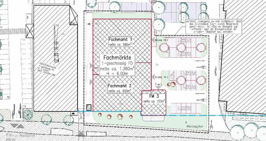 Vorentwurf zum Neubau am Marktkauf auf dem ehemaligen Hempelmanngelände