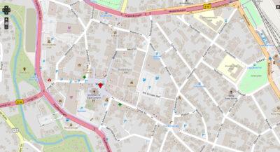 Open-Street-Map-Karte der Innenstadt von Lage