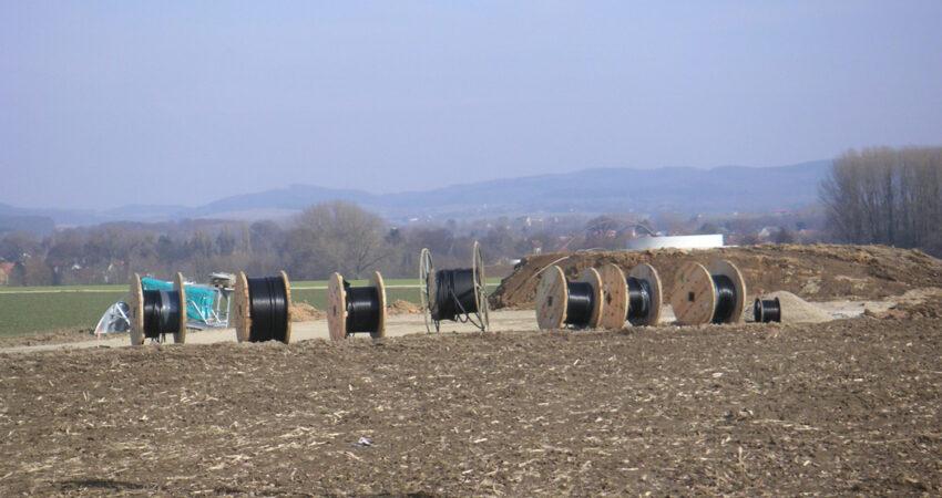 Kabel für den Anschluss der Windräder in Hagen