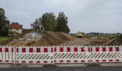 Bauarbeiten am Großen Kamp, Heiden - Tank für die Löschwasserreserve