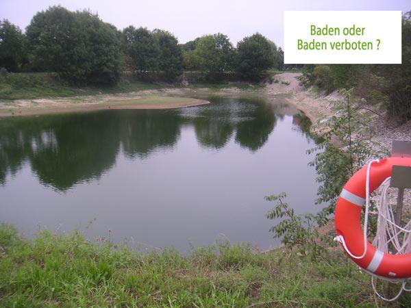 Ein See, nahezu in der Innenstadt von Lage - gehört zu den Anlagen der Zuckerfabrik