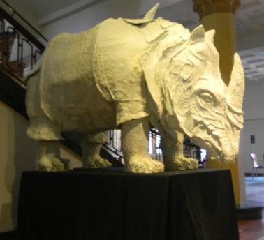 Skulptur im Technikum Lage