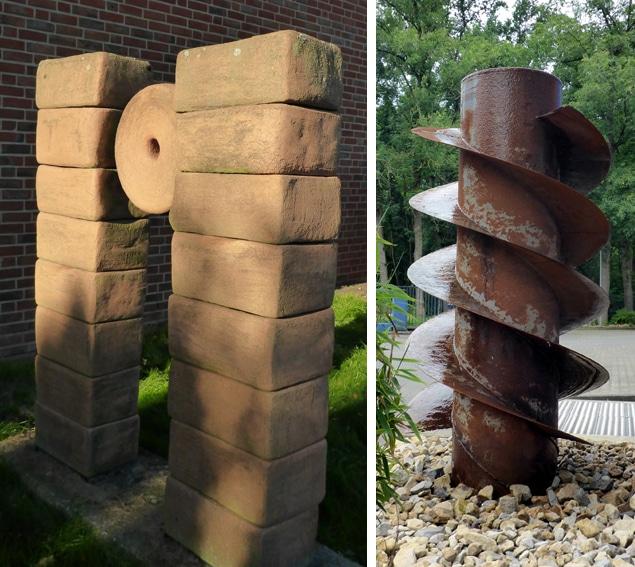 Skulputuren im Ziegeleimuseum und an der Kläranlage Lage