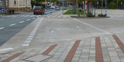 Radweg am Busbahnhof Lage