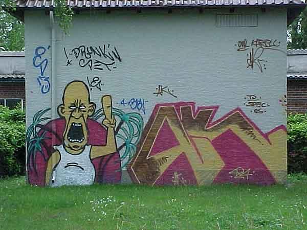 Graffiti an der Pottenhauser Straße - Umspannhäuschen