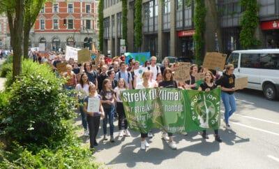 Fridays for Future demonstriert in Detmold
