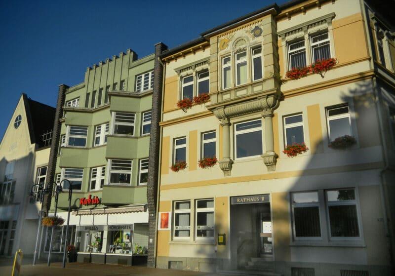 ehemalige Fassaden am Markplatz Lage