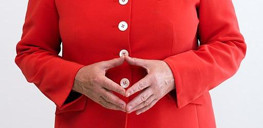 Ausschnitt aus einem Bild von Angela Merkel
