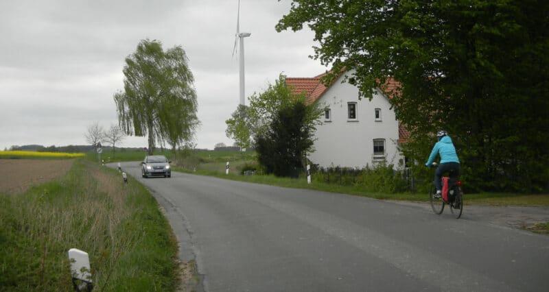 Liemer Straße - hier fehlt der Radweg