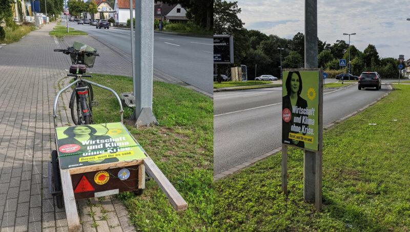 Plakatstaender-auf-Fahrrad-Anhaenger