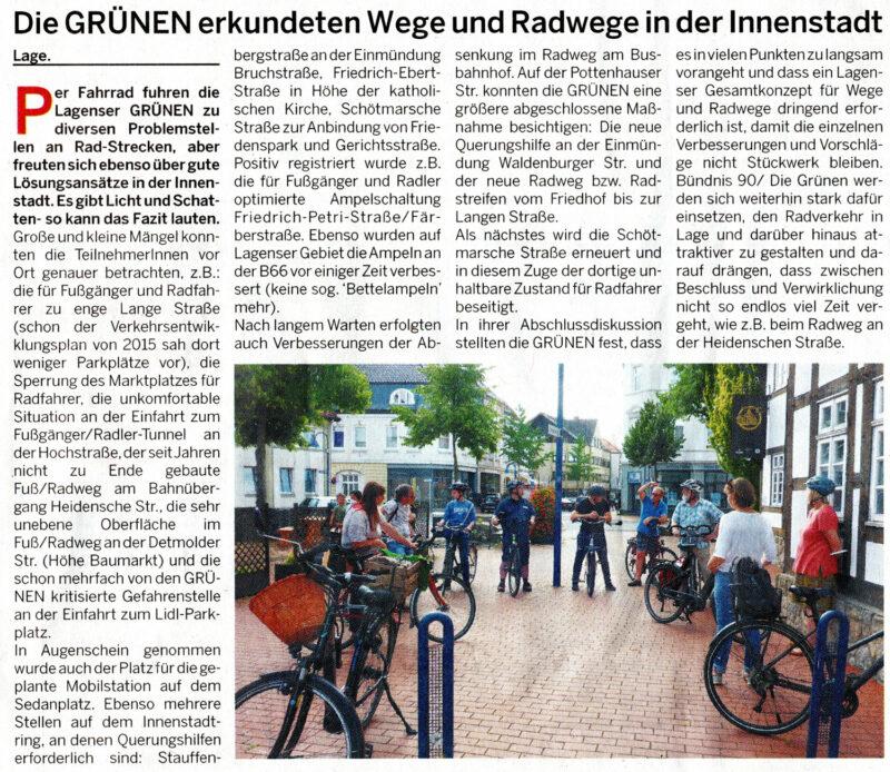 Postillon-Artikel zur Wege- und Radwege - Tour der Grünen