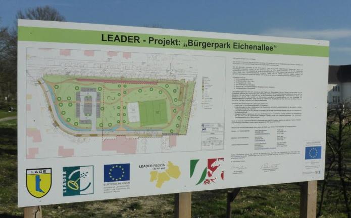 Bauschild Bürgerpark Eichenalle Lage